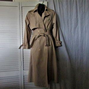 London Fog beige trench coat size 10 reg
